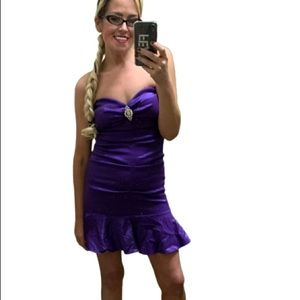 Jump Apparel Purple satin Prom Cocktail Dress 5/6